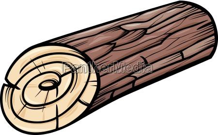 wooden log or stump cartoon clip