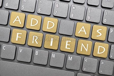 add as friend on keyboard