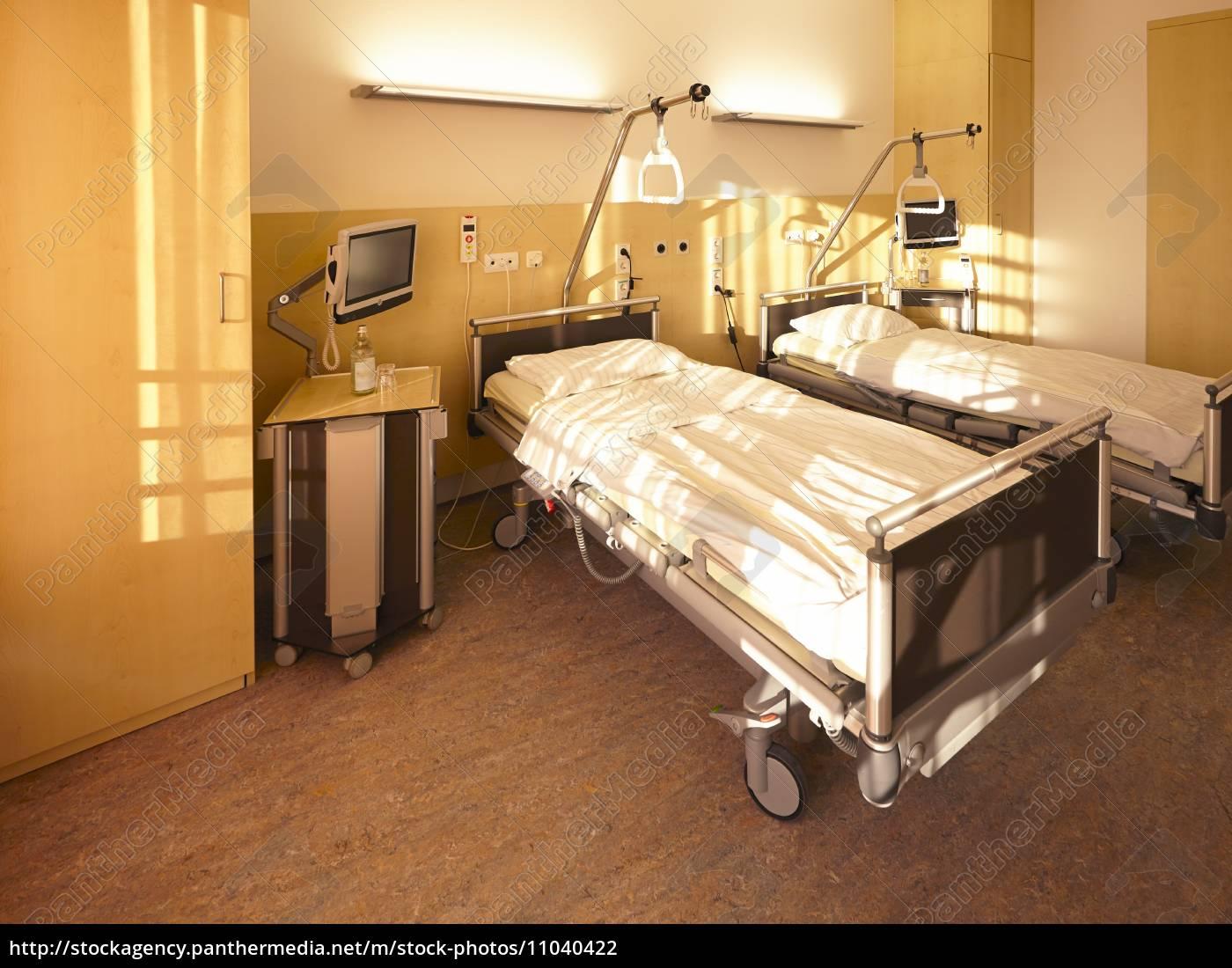 Krankenhaus Bett Doppelzimmer Stock Photo 11040422