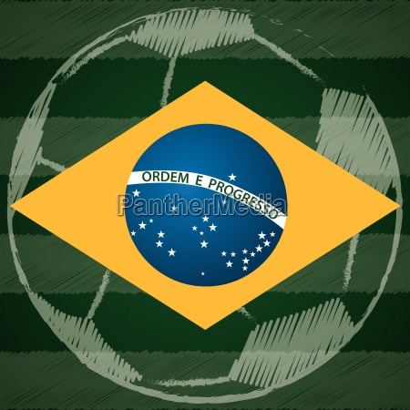 abstract poster design with brasil flag