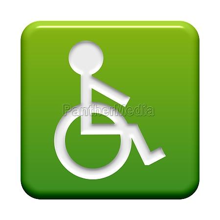 button gruen rollstuhlsymbol