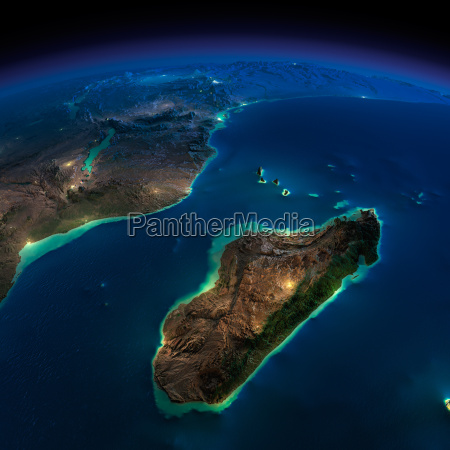 night earth africa and madagascar