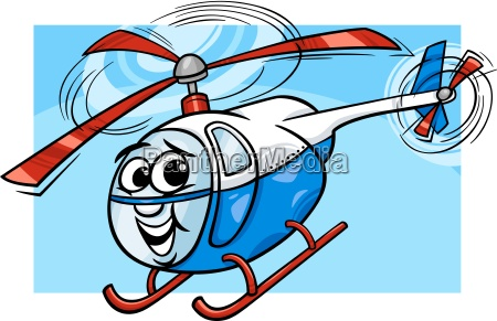 helicopter or chopper cartoon illustration