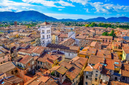 scenic view of lucca village in