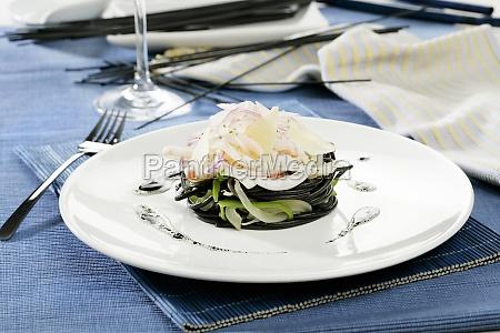 food aliment mollusc sepia black swarthy