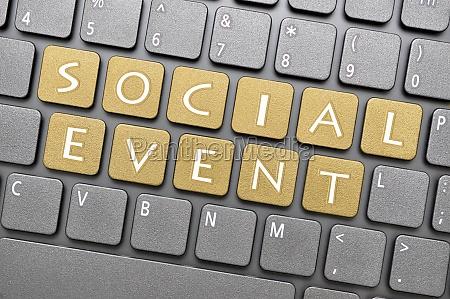 social event key on keyboard