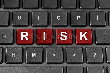 risk word on keyboard