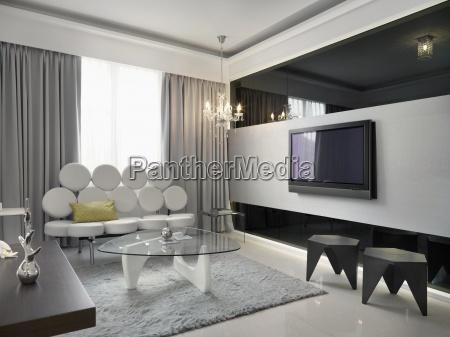 modern retro wohnzimmer