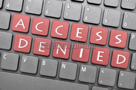 access denied on keyboard