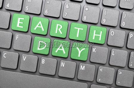 earth day on keyboard