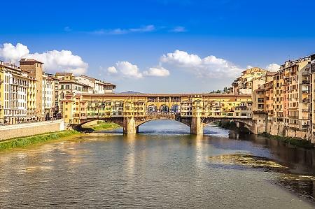 scenic view of ponte vecchio bridge