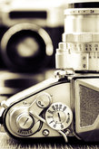 detail view of classic camera with