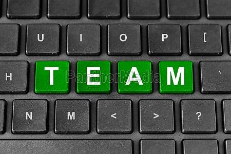 team tax word on keyboard