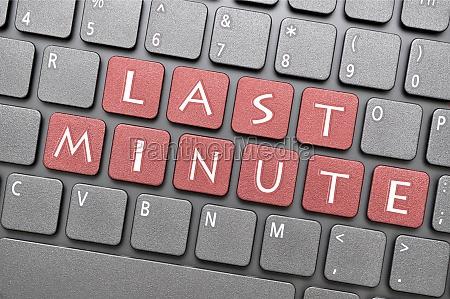 last minute key on keyboard