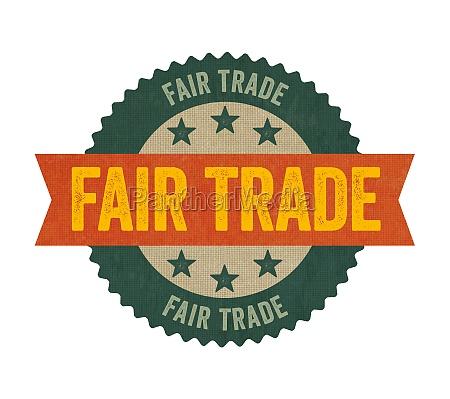 label mit der aufschrift fair trade