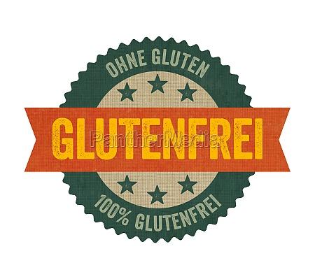 label mit der aufschrift glutenfrei