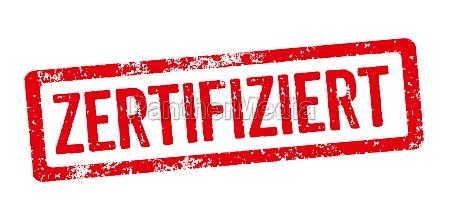 roter stempel zertifiziert