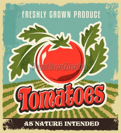 retro vintage advertising poster tomato