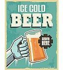 vintage retro beer poster vector design