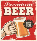 vintage retro beer poster metal