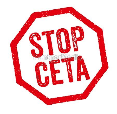 roter stempel stop ceta