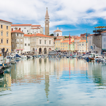 picturesque old town piran slovenia