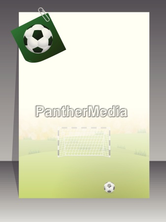 soccer brochure with notepaper