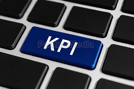 kpi or key performance indicator button