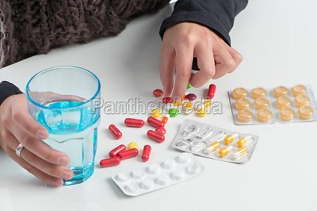 viele, verschiedene, medikamente, - 11819515