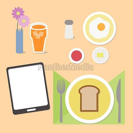 food and brain breakfast set