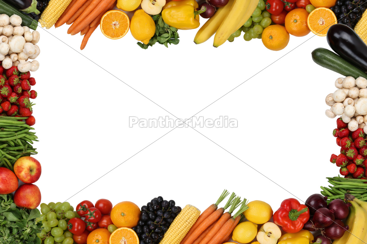 Fruits And Vegetables Border Clipart on Lemon Border Clip Art