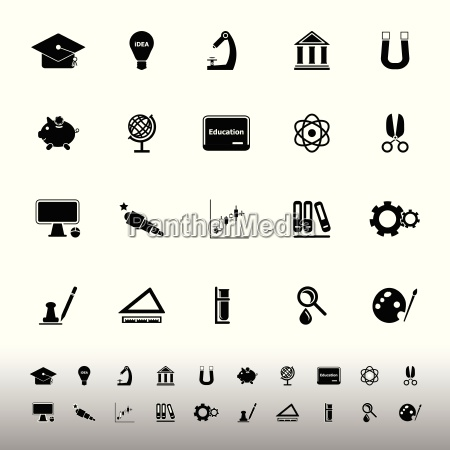 education icons on white background