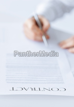 woman with contract