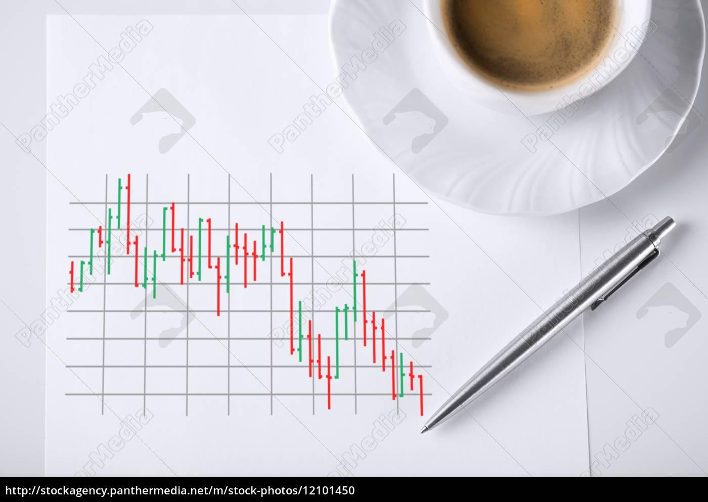 papier, mit, forex-chart, in, ihm, und - 12101450