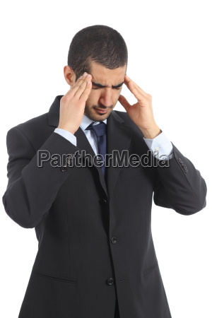 worried arab businessman with head ache