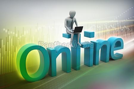 online job concept
