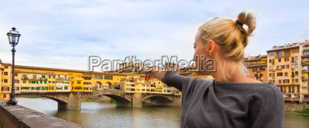 tourist in florence tuscany italy