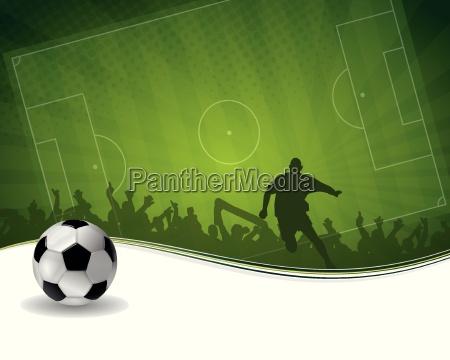 fußballspieler, mit, kugel - 12227902