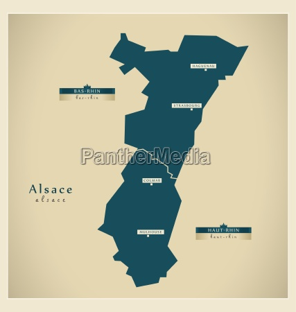 moderne landkarte alsace fr
