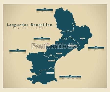 moderne landkarte languedoc roussillon fr