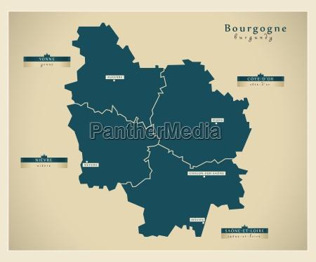 moderne landkarte bourgogne fr