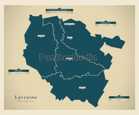 moderne landkarte lorraine fr