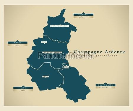moderne landkarte champagne ardenne fr