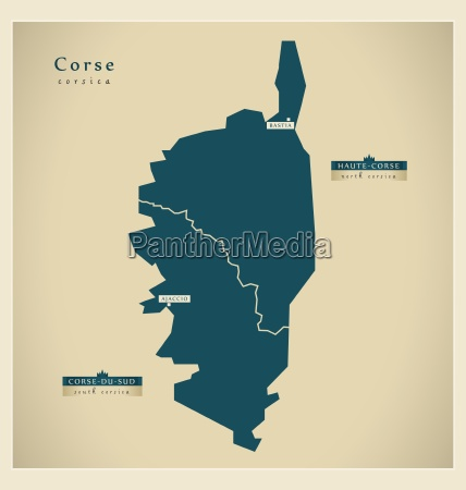 moderne landkarte corse fr