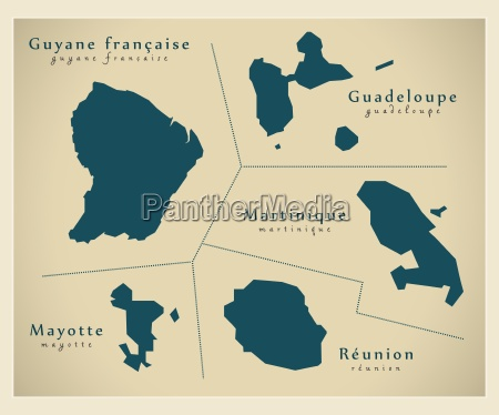 moderne landkarte overseas departements fr
