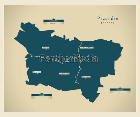 moderne landkarte picardie fr