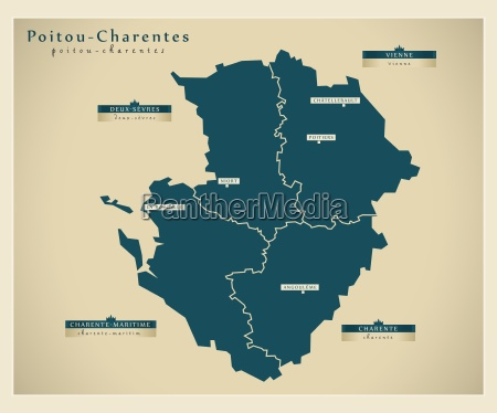 moderne landkarte poitou charentes fr