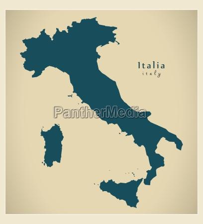 moderne landkarte italien