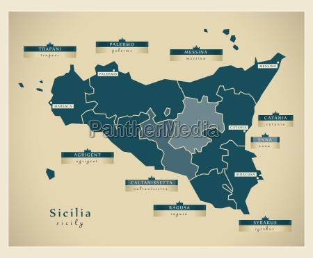 moderne landkarte sicilia it