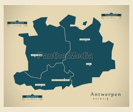 moderne landkarte antwerpen be